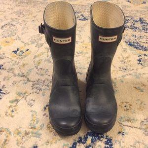 Hunter—Short Navy Rain Boots